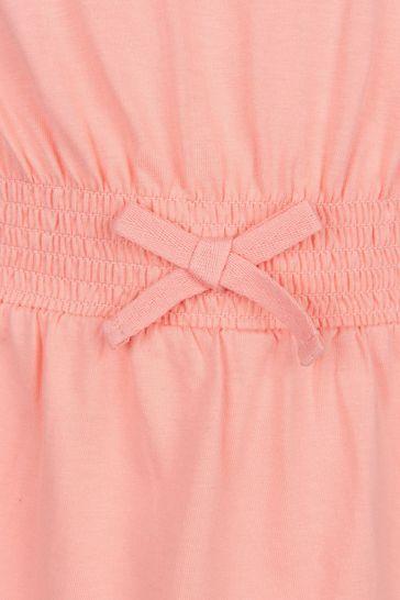 Girls Pink Cotton Dress