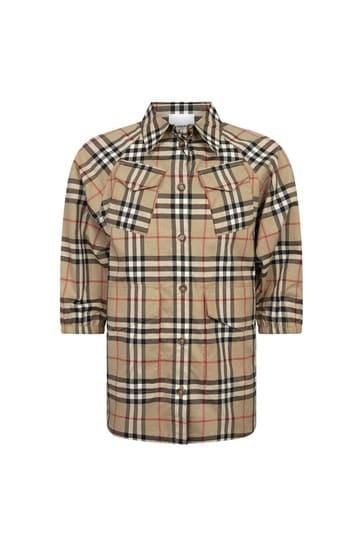 Girls Beige Cotton Shirt