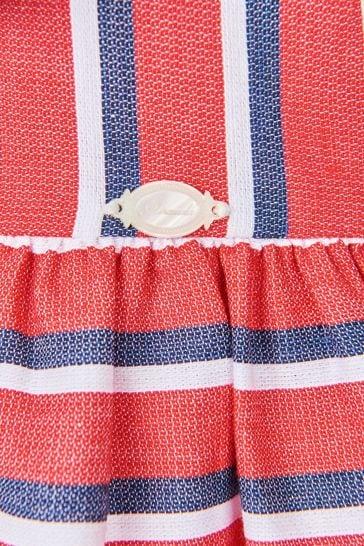 Girls Red Cotton Dress