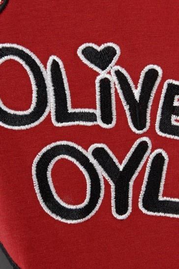 Girls Red Cotton Olive Oyl Dress