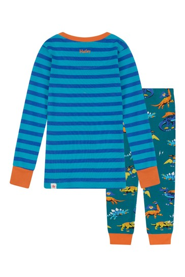 Boys Organic Cotton Blue Pyjama Set