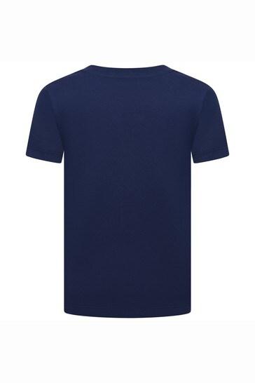 Boys Navy Cotton T-Shirt