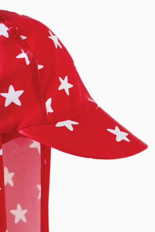 00249f552 Buy Frugi Oeko Tex Legionnaires Style Swim Hat In Red Spot from Next USA