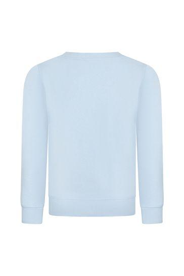 Boys Blue Cotton Sweat Top