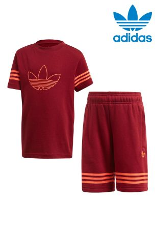 adidas outline t-shirt burgundy
