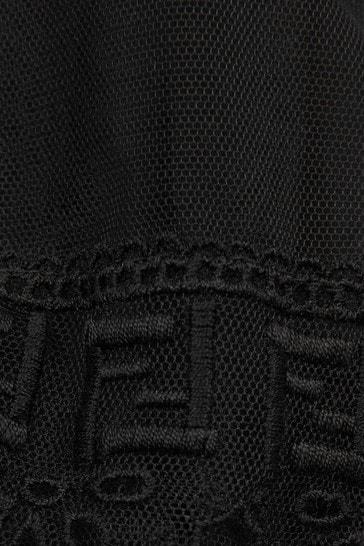 Girls Black Silk Dress