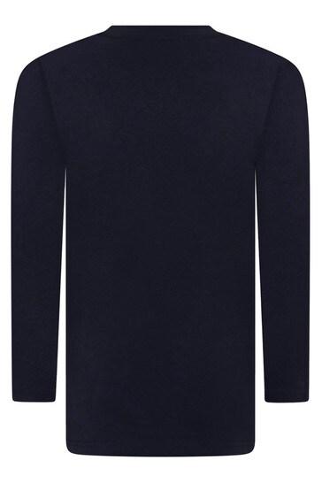 보이즈 네이비 코튼 롱 슬리브 티셔츠