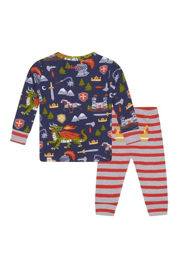 Baby Organic Cotton Navy Pyjama Set
