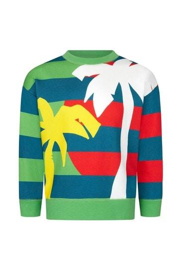 Boys Green Cotton Sweater