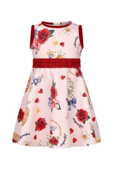 Baby Girls Pink Floral Print Dress