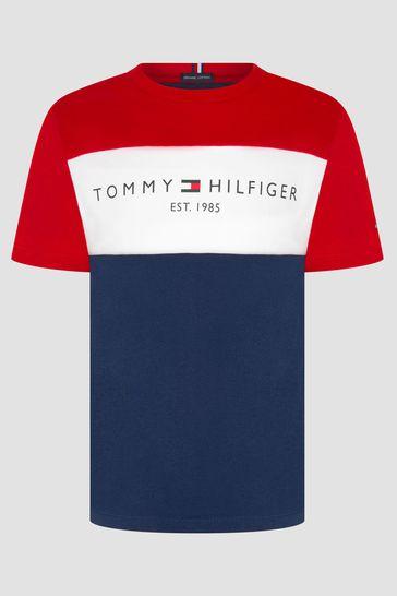Tommy Hilfiger Boys Navy Cotton T-Shirt