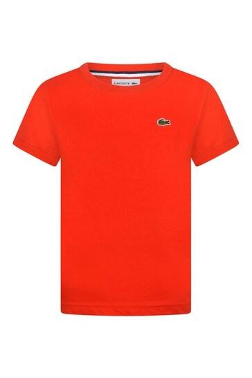 Boys Cotton Red Short Sleeve T-Shirt
