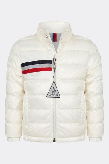 Moncler Baby Boys White Alipos Jacket