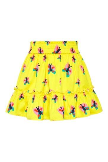 Girls Yellow Cotton Skirt