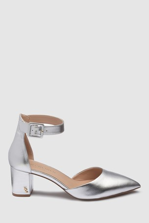 a0e74a431b Buy Kurt Geiger Silver Leather Burlington Heel from the Next UK ...