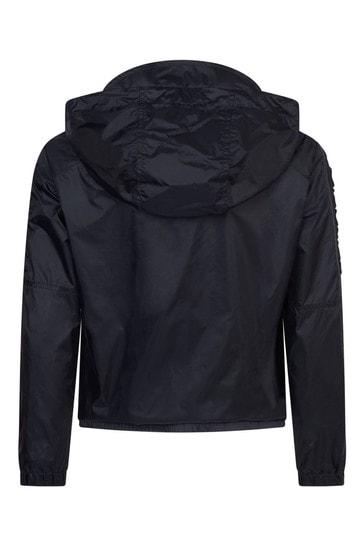Boys Navy Hooded Jacket