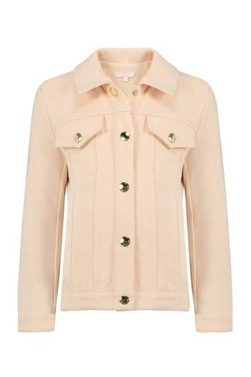 걸스 핑크 코튼 재킷
