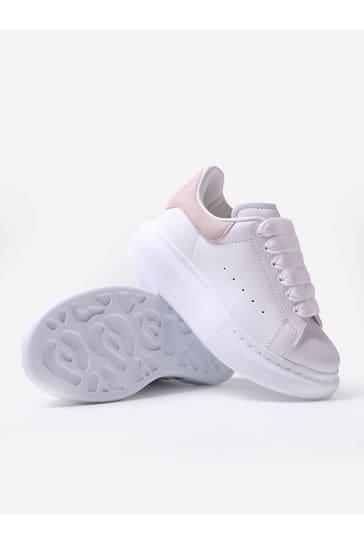 Alexander McQueen Girls White Trainers