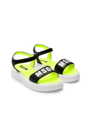 MSGM Girls Black Sandals