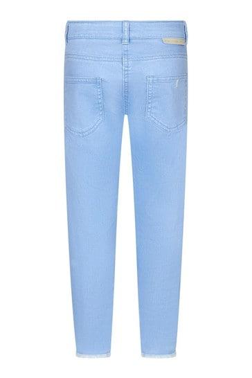 Girls Purple Cotton Jeans