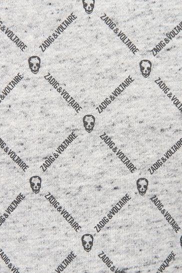 Boys Grey Cotton Sweat Top