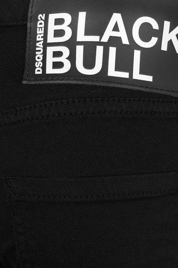 Boys Black Cotton Jeans