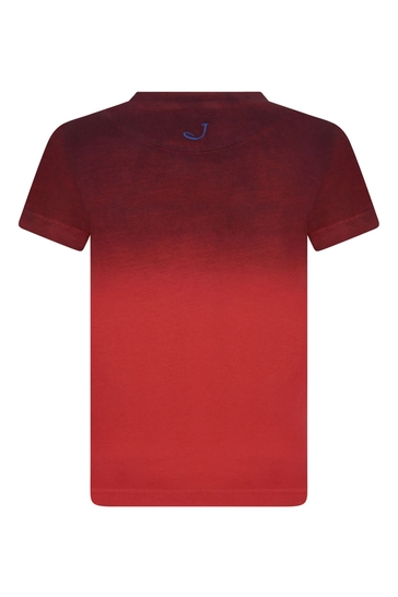 Boys Red Tie-Dye Logo T-Shirt