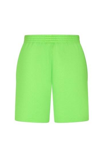 Kids Green Cotton Shorts