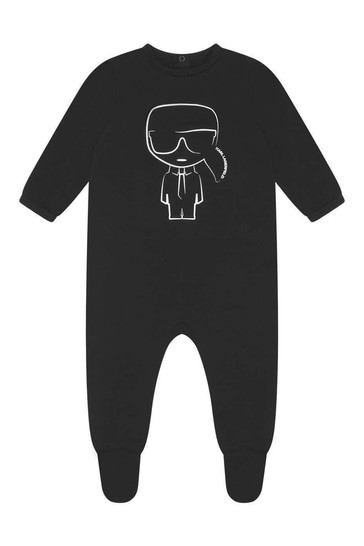 Baby Boys Grey/Black Babygrow Gift Set
