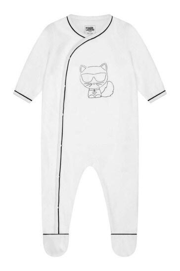 Baby Girls White Babygrow Gift Set