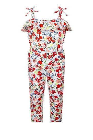 Girls Multi Cotton Jumpsuit