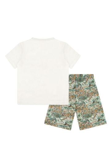 Boys Green Cotton Pyjamas