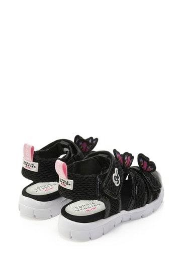 Girls Black Riva Sandals