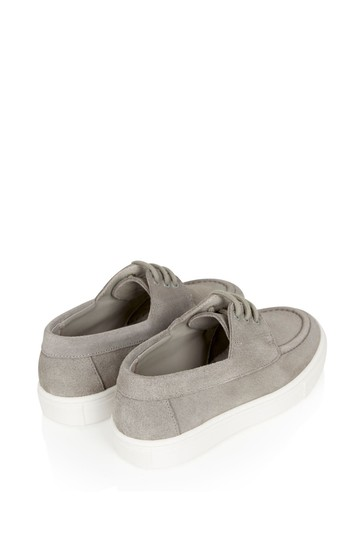 Boys Beige Leather Loafers