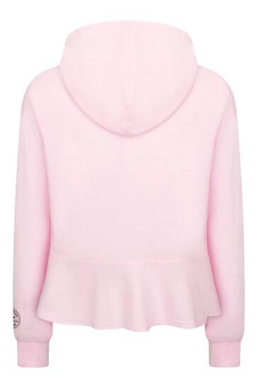 Girls Pink Cotton Hoody