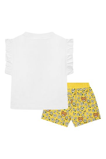 Girls Yellow Cotton Outfit