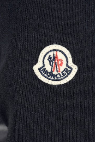 Boys Navy Cotton Zip Up Top