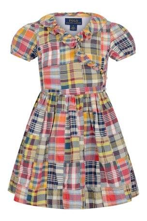 Girls Patchwork Cotton Wrap Dress