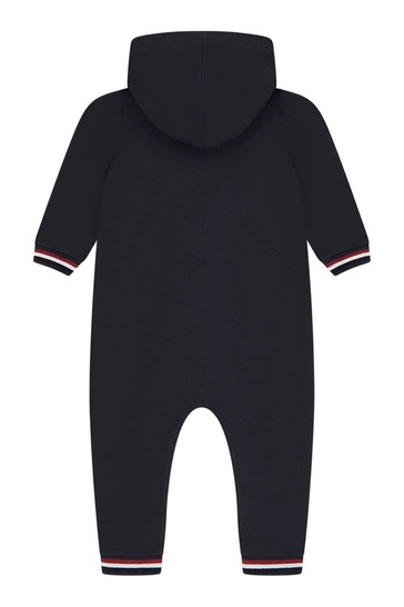 Moncler Baby Navy Cotton Coverall