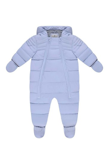 cáustico cerca Círculo de rodamiento  Buy Baby Boys Pale Blue Polar Lined Snowsuit from the Childsplay Clothing UK  online shop