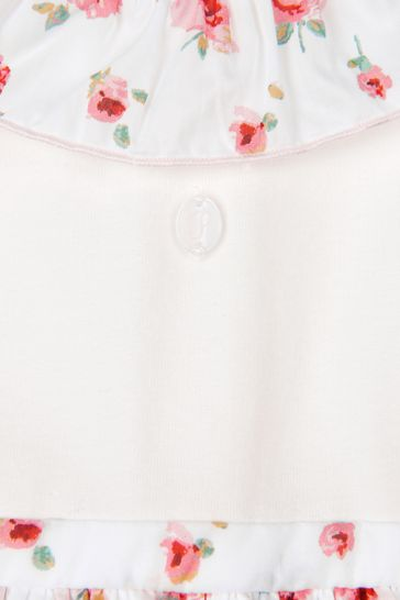 Baby Girls White Cotton Romper