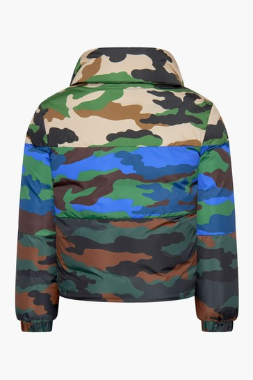 Boys Camouflage Down Padded Marchaud Jacket
