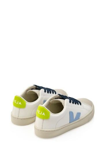 Kids White Vegan Leather Trainers