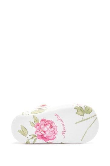 Baby Cream Cotton Prewalker Shoes