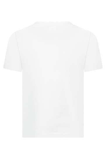 Kids White Cotton T-Shirt