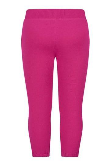 Girls Raspberry Pink Fleece Joggers