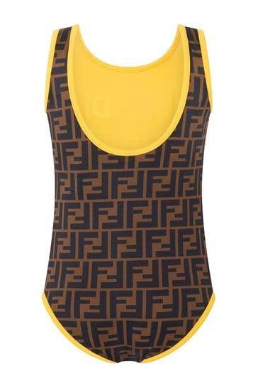 Girls Brown Swimsuit
