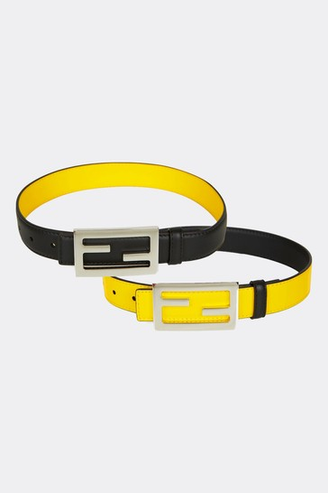 Kids Black Leather Belt