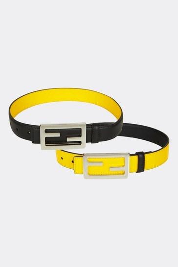 Kids Black Leather Belt