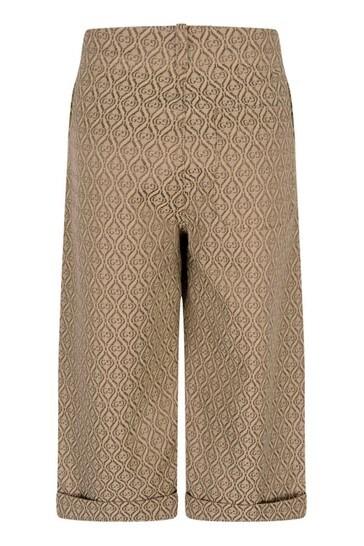 Boys Beige Canvas Geometric GG Trousers